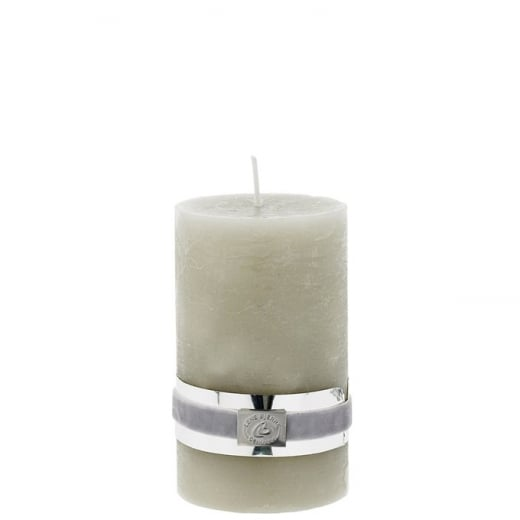 Lene Bjerre Rustic Candle Medium Silver Grey H12.5cm
