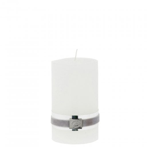 Lene Bjerre Rustic Candle Medium - White H12.5cm