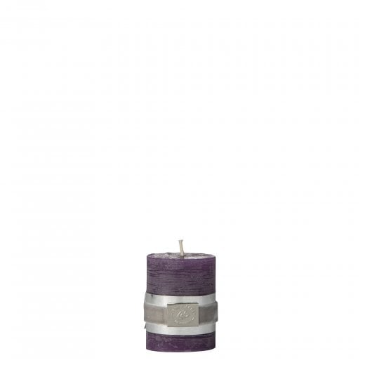 Lene Bjerre Rustic Candle Small - Imperial Purple  H6cm