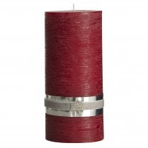 Lene Bjerre Rustic Candle XLarge - Dark Red D10cm/H20cm
