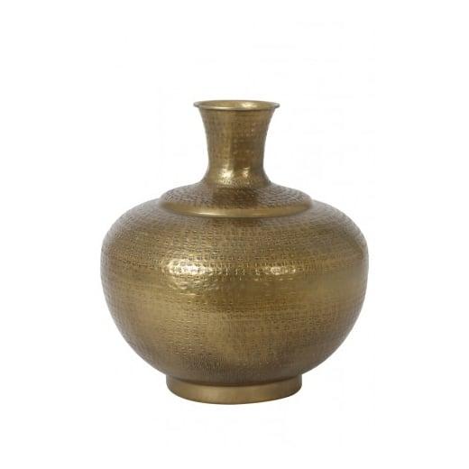 Danish Collection Antique Bronze Glass Vase