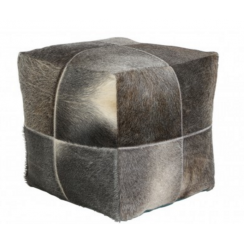 Light and Living Cowhide Stool