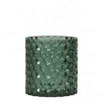 Danish Collection Green Glass Tea Light