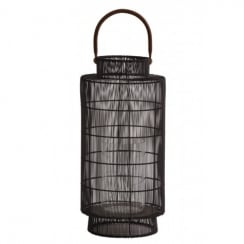 Light and Living Lantern - Wire Brown with Handle