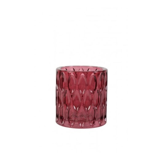 Danish Collection Red Glass Tealight Holder
