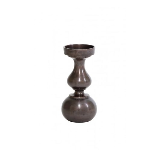 Danish Collection Small Antique Copper Candle Holder