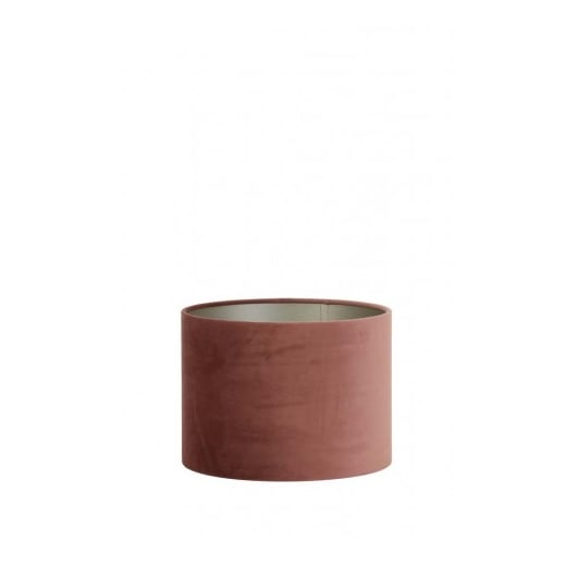 Light and Living Velour Dusky Pink Lamp Shade