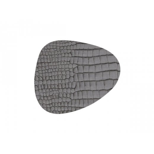 LindDNA Curve Croco Glass Mat - Silver-black