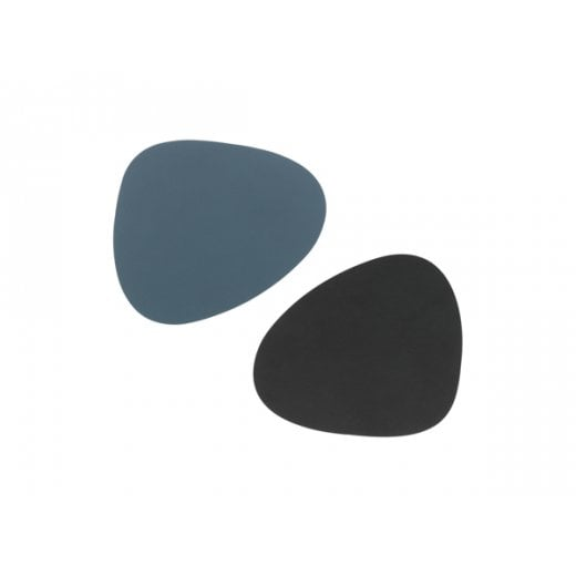 LindDNA Curve Double Nupo Glass Mat - Blue/Black