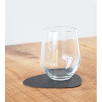 LindDNA Curve Hippo Glass Mat - Black-anthracite
