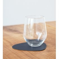 LindDNA Curve Hippo Glass Mat - Navy Blue
