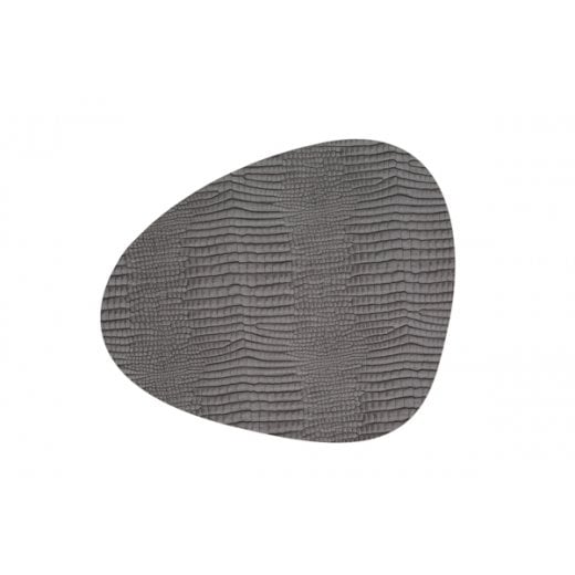 LindDNA Large Curve Croco Table Mat - Silver-black