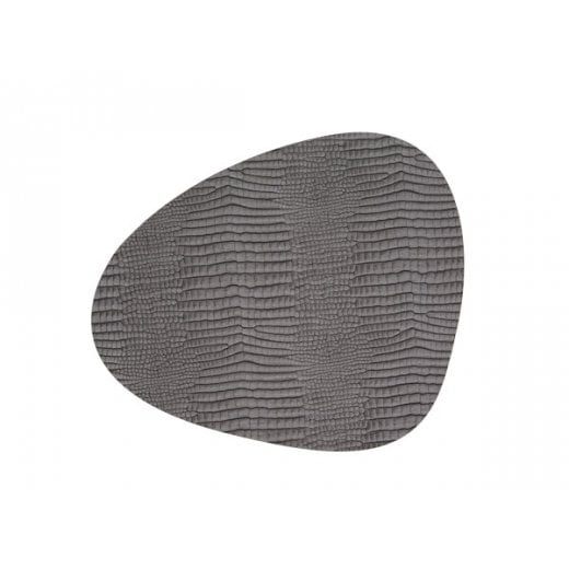 LindDNA Small Curve Croco Table Mat - Silver-black