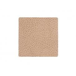 LindDNA Square Hippo Glass Mat - Sand