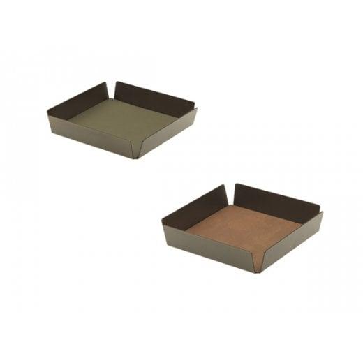 LindDNA Tray Nupo Mini Square - Green/Brown/Bronze