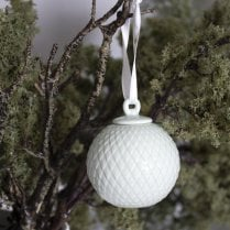 Lyngby Porcelain Bauble Rhombe- Soft Green D6.5cm