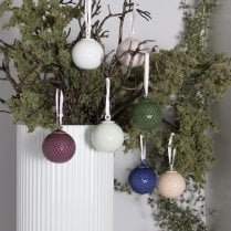 Lyngby Porcelain Bauble Rhombe- Soft Green