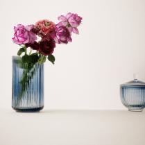 Lyngby Porcelain Lyngby Vase Blue - H15cm