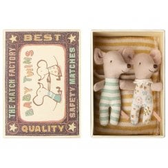 Maileg Baby Mice Twins in Box