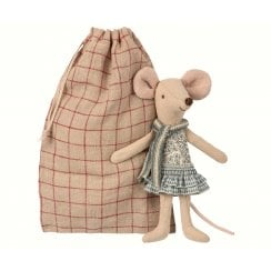 Maileg Big Sister in Bag - Winter Mouse