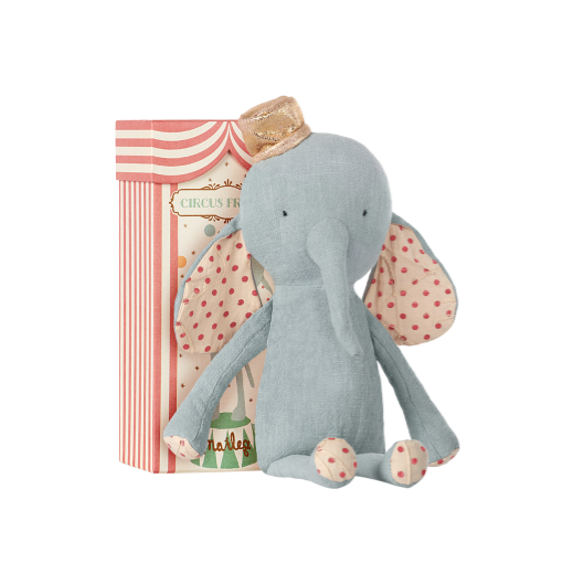 Maileg Blue Circus Friends Elephant