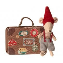 Maileg Christmas Mouse in Suitcase
