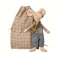 Maileg Father in Bag - Winter Mouse