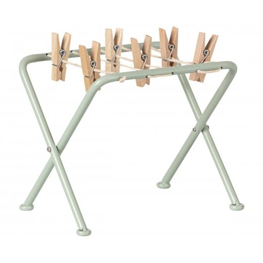 Maileg Green Drying Rack with Pegs