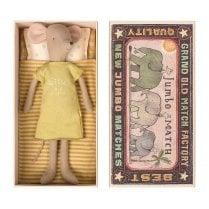 Maileg Medium Mouse in a Box - Girl