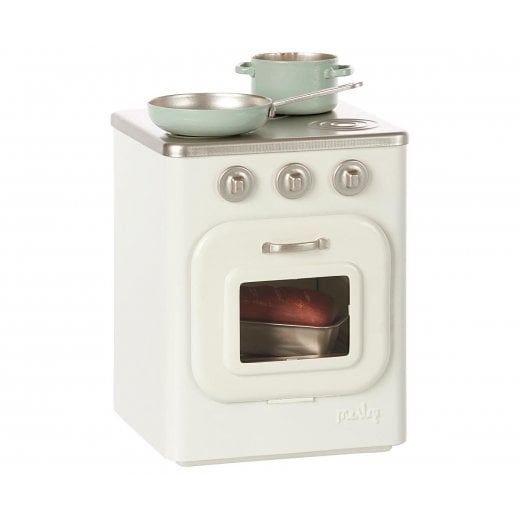 Maileg Metal Stove & Utensils - White