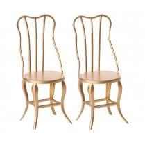 Maileg Micro Vintage Chairs - Gold