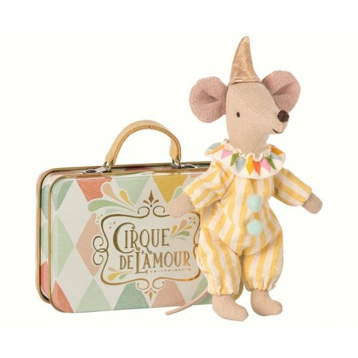 Maileg Mouse in a Suitcase - Clown