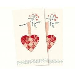 Maileg Napkin - Christmas Heart
