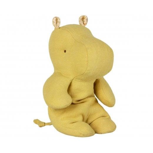 Maileg Safari Friends Small Hippo - Lime Yellow
