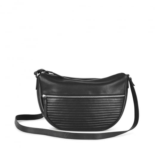 Markberg Black Leather Cross Body Bag