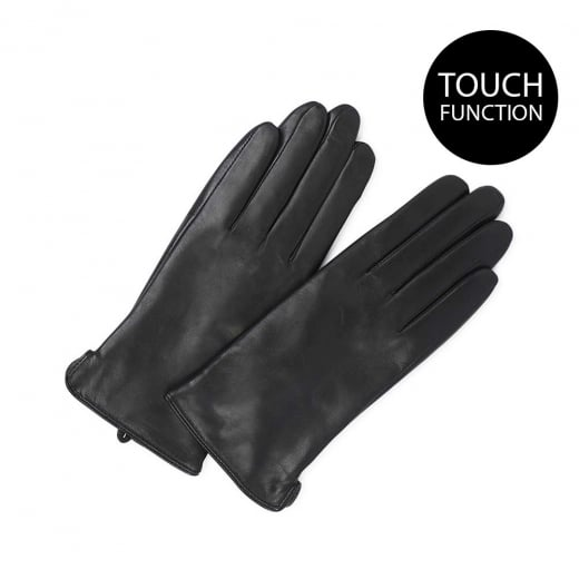 Markberg Black Leather Gloves with Touch Screen Function