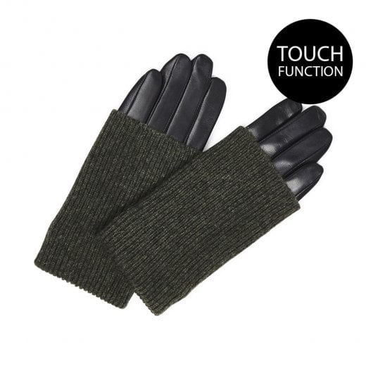 Markberg Helly Glove - Black with Army Green Knit