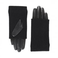 Markberg Helly Glove, Black with Black Knit