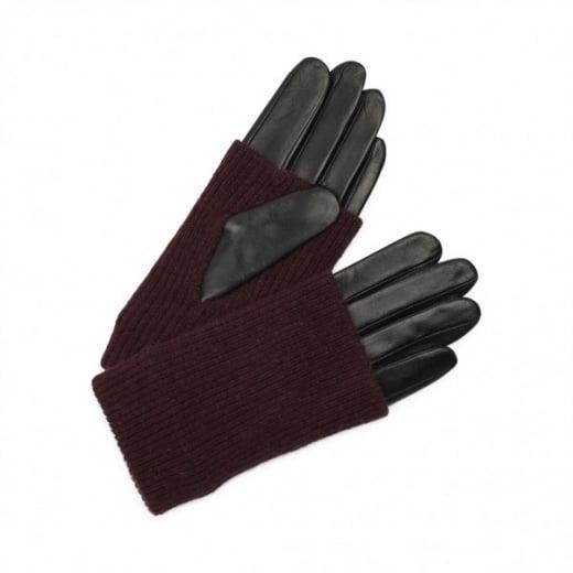 Markberg Helly Glove - Black with Grape Knit