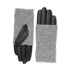 Markberg Helly Glove - Black with Grey Knit