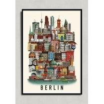 Martin Schwartz Berlin City Poster A3