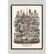 Martin Schwartz Paris City Poster A3