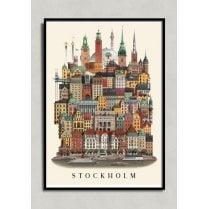 Martin Schwartz Stockholm City Poster A3