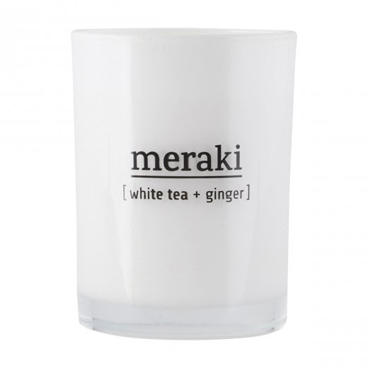 Meraki Scented Candle - White Tea & Ginger