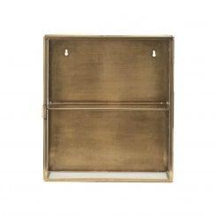 Meraki Small Glass Cabinet - Brass