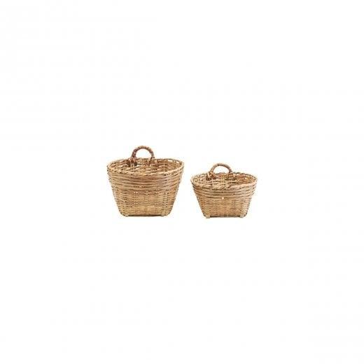 Meraki Traditional Merkai Baskets - Brown