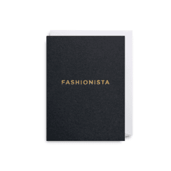 Mini Card 9x12cm - Fashionista Black