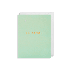 Mini Card 9x12cm - I Miss You - Pistachio Green