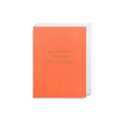 Mini Card 9x12cm - So Happy You're My Friend - Coral
