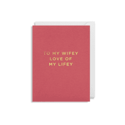 Mini Card 9x12cm - To My Wifey - Red